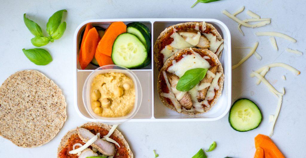 Pizza Lunchables bento box